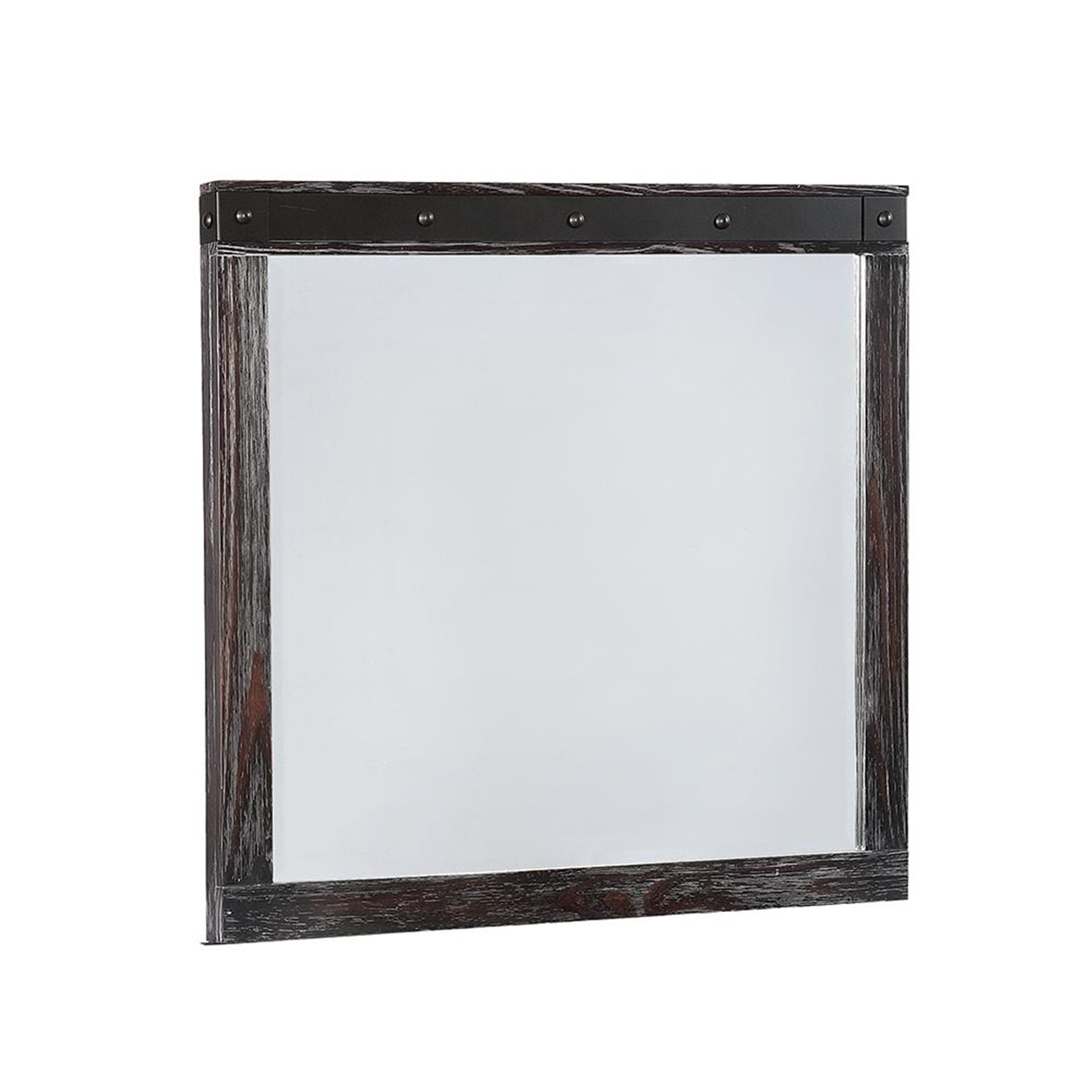 Barkley Rustic Barn Door Grey Mirror