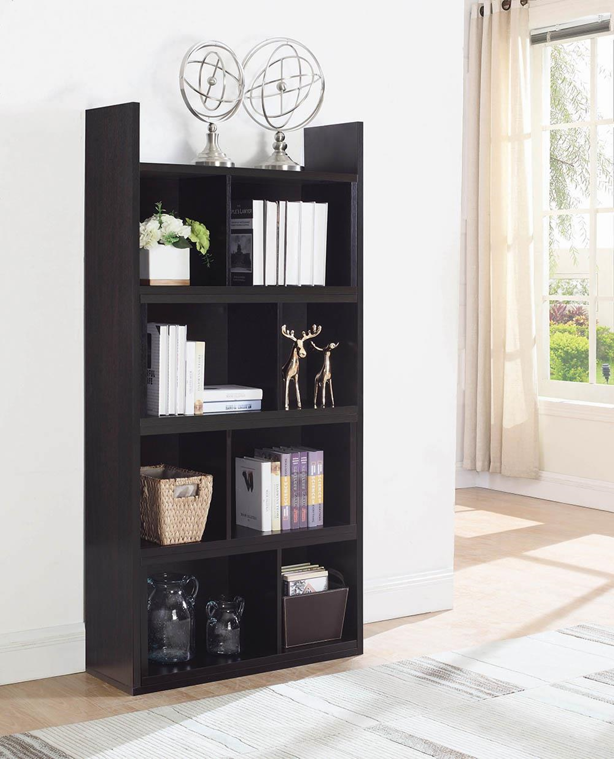 Transitional Capp. Rotating Shelf Bookcase